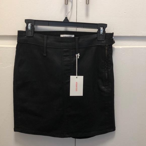 Good American Dresses & Skirts - Good American waxed denim mini skirt